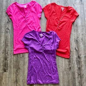 Old Navy Women's Perfect Henley Shirt Bundle